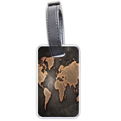 Grunge Map Of Earth Luggage Tags (two Sides) by BangZart