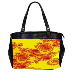 Floral Fractal Pattern Office Handbags (2 Sides)  by BangZart