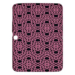 Triangle Knot Pink And Black Fabric Samsung Galaxy Tab 3 (10 1 ) P5200 Hardshell Case  by BangZart