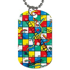 Snakes And Ladders Dog Tag (two Sides)