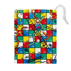 Snakes And Ladders Drawstring Pouches (extra Large)