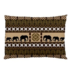Elephant African Vector Pattern Pillow Case (two Sides)