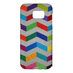 Charming Chevrons Quilt Samsung Galaxy S7 Edge Hardshell Case by BangZart