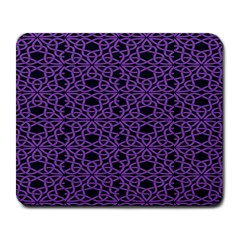 Triangle Knot Purple And Black Fabric Large Mousepads by BangZart