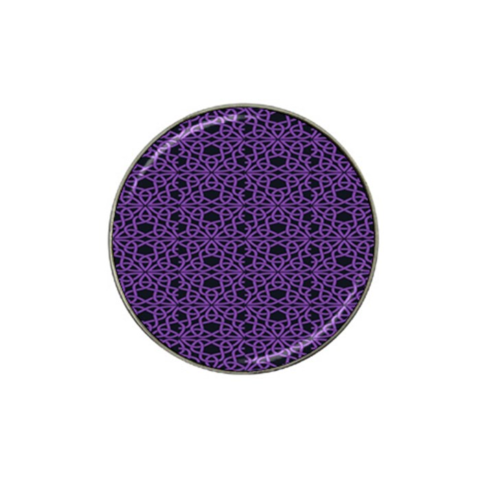 Triangle Knot Purple And Black Fabric Hat Clip Ball Marker (4 pack)