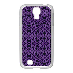 Triangle Knot Purple And Black Fabric Samsung Galaxy S4 I9500/ I9505 Case (white) by BangZart