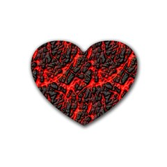 Volcanic Textures  Heart Coaster (4 Pack)  by BangZart
