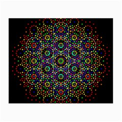 The Flower Of Life Small Glasses Cloth by BangZart