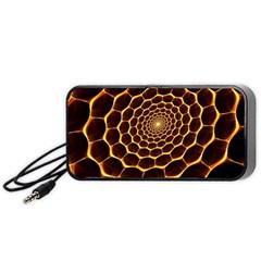 Honeycomb Art Portable Speaker (black)