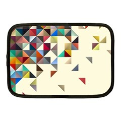 Retro Pattern Of Geometric Shapes Netbook Case (medium)  by BangZart