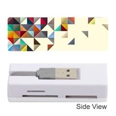 Retro Pattern Of Geometric Shapes Memory Card Reader (stick)  by BangZart
