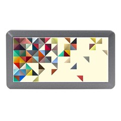 Retro Pattern Of Geometric Shapes Memory Card Reader (mini) by BangZart
