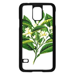 Bitter Branch Citrus Edible Floral Samsung Galaxy S5 Case (black) by Nexatart