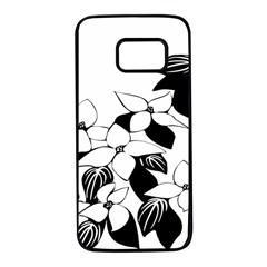 Ecological Floral Flowers Leaf Samsung Galaxy S7 Black Seamless Case