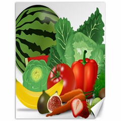 Fruits Vegetables Artichoke Banana Canvas 18  X 24