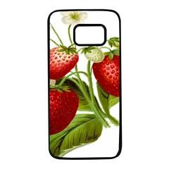 Food Fruit Leaf Leafy Leaves Samsung Galaxy S7 Black Seamless Case