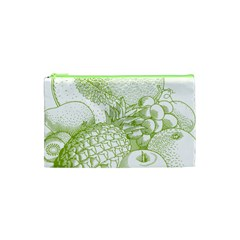 Fruits Vintage Food Healthy Retro Cosmetic Bag (xs) by Nexatart