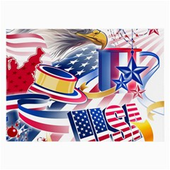 United States Of America Usa  Images Independence Day Large Glasses Cloth by BangZart