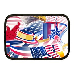 United States Of America Usa  Images Independence Day Netbook Case (medium)  by BangZart