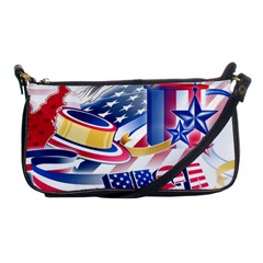 United States Of America Usa  Images Independence Day Shoulder Clutch Bags by BangZart