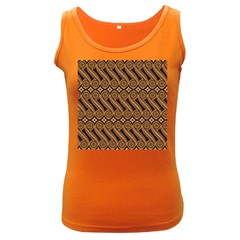 Batik The Traditional Fabric Women s Dark Tank Top by BangZart