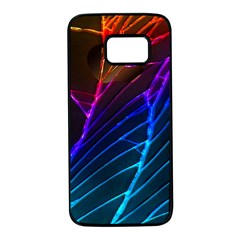 Cracked Out Broken Glass Samsung Galaxy S7 Black Seamless Case by BangZart