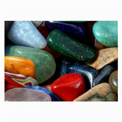 Stones Colors Pattern Pebbles Macro Rocks Large Glasses Cloth (2 Side) by BangZart