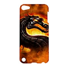 Dragon And Fire Apple Ipod Touch 5 Hardshell Case by BangZart
