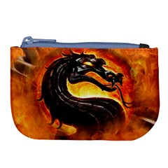 Dragon And Fire Large Coin Purse by BangZart