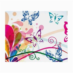 Butterfly Vector Art Small Glasses Cloth (2 Side) by BangZart