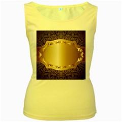 Floral 3 Women s Yellow Tank Top