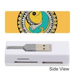 Madhubani Fish Indian Ethnic Pattern Memory Card Reader (stick)