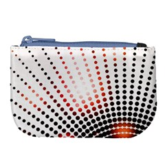 Radial Dotted Lights Large Coin Purse by BangZart