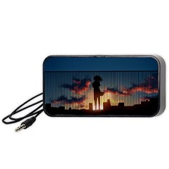Art Sunset Anime Afternoon Portable Speaker (black)