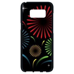Fireworks With Star Vector Samsung Galaxy S8 Black Seamless Case by BangZart