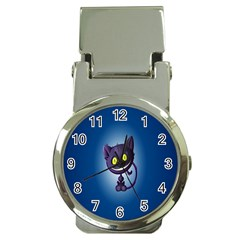 Funny Cute Cat Money Clip Watches