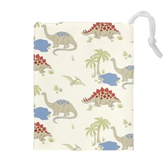 Dinosaur Art Pattern Drawstring Pouches (extra Large) by BangZart