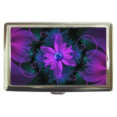 Beautiful Ultraviolet Lilac Orchid Fractal Flowers Cigarette Money Case by beautifulfractals