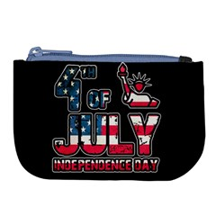 4th Of July Independence Day Large Coin Purse by Valentinaart