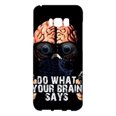 Do What Your Brain Says Samsung Galaxy S8 Plus Hardshell Case  by Valentinaart