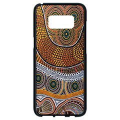 Aboriginal Traditional Pattern Samsung Galaxy S8 Black Seamless Case by Onesevenart