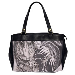 Chinese Dragon Tattoo Office Handbags (2 Sides)  by Onesevenart