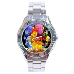 Chinese Zodiac Signs Stainless Steel Analogue Watch by Onesevenart