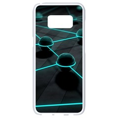 3d Balls Rendering Lines  Samsung Galaxy S8 White Seamless Case by amphoto