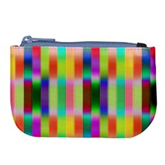 Multicolored Irritation Stripes Large Coin Purse by designworld65