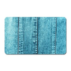 Denim Jeans Fabric Texture Magnet (rectangular) by paulaoliveiradesign