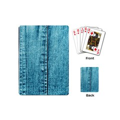 Denim Jeans Fabric Texture Playing Cards (mini)  by paulaoliveiradesign