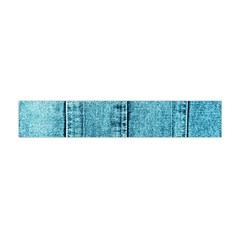 Denim Jeans Fabric Texture Flano Scarf (mini) by paulaoliveiradesign