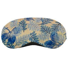 Fabric Embroidery Blue Texture Sleeping Masks by paulaoliveiradesign