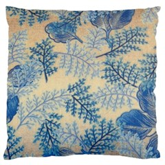 Fabric Embroidery Blue Texture Standard Flano Cushion Case (one Side) by paulaoliveiradesign